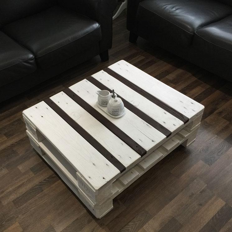 couchtisch weiss schokobraun zubring palettenm bel. Black Bedroom Furniture Sets. Home Design Ideas
